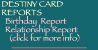 Destiny Card Reports